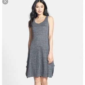 Eileen Fisher linen blend marked gray tank dress M